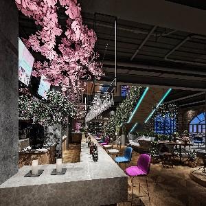 音乐主题餐厅设计艺术与酒的融合