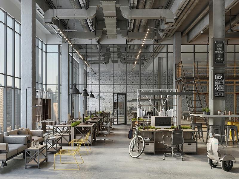 工业风办公空间设计VizLine Studio and Tsiabus Maxim1 (1)