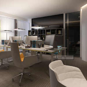 办公室装修设计空间分割法则有几点