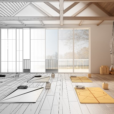 杭州江干区瑜伽馆装修设计案例